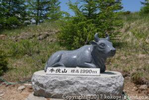美ヶ原散策(牛の像)