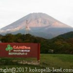 キャンピカ富士ぐりんぱ、電源サイトの景色と雰囲気