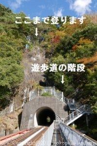 湖上駅遊歩道階段