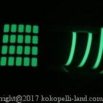 蓄光テープと100均蓄光シールの発光時間(燐光)を比較してみた