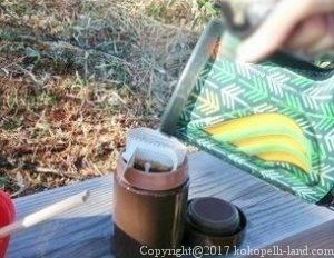 トレッキングでコーヒーを淹れる