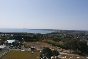 地球の丸く見える丘展望館からの眺望