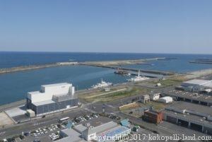 銚子ポートタワーから望む銚子港
