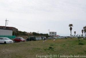 屏風ヶ浦9時過ぎの駐車場