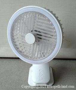 自動首振りコンパクト扇風機